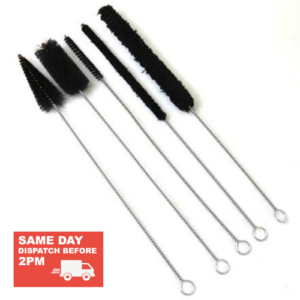 Set of Bagpipe Premium Brushes, both Nylon and Cotton versions. Used for cleaning or drying your pipes.