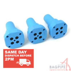 Shepherd Bagpipe Tone Enhancers, used to regulate the pressure to the bagpipe drone reeds.