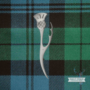 Thistle Leaf Kilt Pin