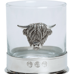 Highland Cow Glass